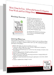 More Time for You Workshop one sheet